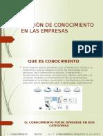 GESTIÒN DE CONOCIMIENTO EN LAS EMPRESAS (1)
