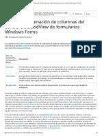 Modos de ordenación de columnas del control DataGridView de formularios Windows Forms