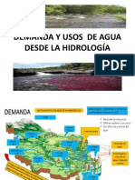 DEMANDA Y USOS  DE AGUA DESDE LA HIDROLOGÍA