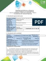 Guía de actividades y rúbrica de evaluación - Fase 2- Ecosistemas del Territorio Nacional