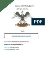 Proceso de Organización mad
