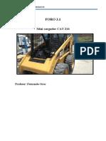 FORO 3.1 Sistema hidráulico Minicargador