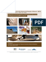 Relatório do Inventário da Mineração em Pequena Escala dos Minerais Metálicos