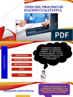 Dimensiones Del Proceso de Investigacion Cualitativa