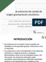 DEFINICIÓN DE ESFUERZOS DE CAMPO