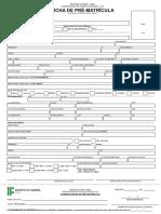 Ficha de Matrícula Geral - Atualização NAPNE