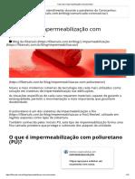 Tudo sobre impermeabilização com poliuretano