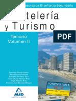 Vol2 TEMARIO CUERPO DE PROFESORES ENSEÑANZA SECUNDARIA. HOSTELERIA Y TURISMO.