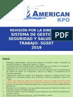 2020. Presentacion Sgsst Dgral 2019