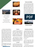 Triptico Región Andina-