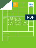 Erdilman 2020 Globalcit, Trends in Birthright Citizenship