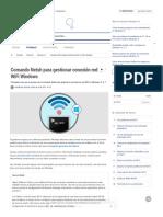 Comando Netsh para gestionar conexión red WiFi Windows - Solvetic