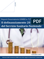 Report Osservatorio GIMBE 2019.07 - Definanziamento SSN