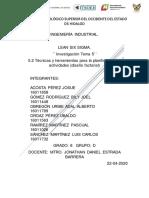 5.2 Técnicas y herramientas para la planificación de actividades (diseño factorial). Ubaldo,LuisCarlos,Bily,Adal,Pascual;JosueA.