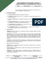 PROCEDIMIENTO  RETORNO LABORAL OBRAS DURANTE LA PANDEMIA DEL COVID19.pdf