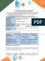 Guía de actividades y rúbrica de evaluacion - Fase 4 – exposición en video del informe ejecutivo del proyecto de exportación