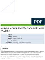 Modeling a Pump Start-Up Transient Event in HAMMER - OpenFlows