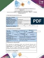 Guía de actividades y rúbrica de evaluación - Paso 4 - Trabajo Colaborativo 3