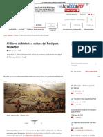 61 libros de historia y cultura del Perú para descargar