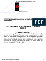 ALL YOU WANT TO KNOW ABOUT CONCRETE BLOCKS -LCETED