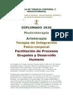 DIPLOMADO Musicoterapia, Arteterapia y Terapia de Integración Psico-corporal 2020