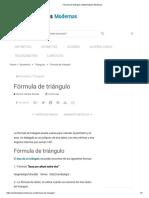 Fórmula de triángulo _ Matematicas Modernas