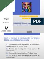 Tema 1. Técnicas de Intervención en TS (1)
