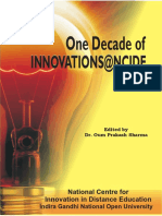 1_  One Decade of Innovations at NCIDE