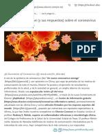Las 6 preguntas clave (y sus respuestas) sobre el coronavirus