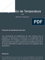 Regulacion de temperatura