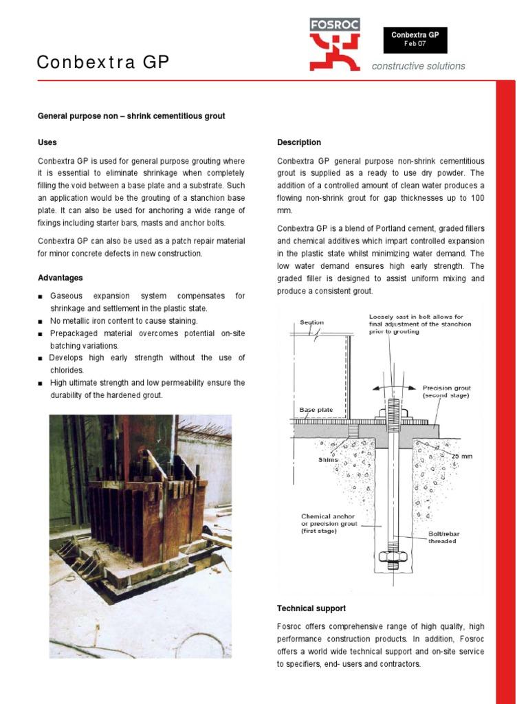 PDS) Conbextra GP[1] | Concrete | Materials