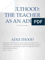 PGCE ADULTHOOD AND CITIZENSHIP