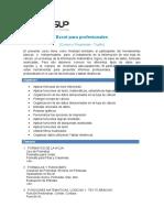 Temario- Excel para Profesionales