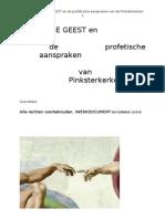 De HEILIGE GEEST en de Aanspraken Van de Pinksterkerken