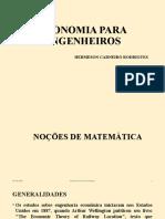CRITÉRIOS DE DECISÃO ECONÔMICOS