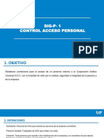 Control acceso personal