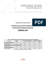 OREAS 991 Certificate
