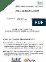 Enzym immobilization