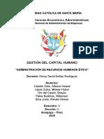 Tarea - Administración de recursos humanos ético