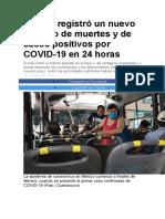 México registró un nuevo máximo de muertes