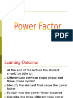 Power Factor & Star Delta