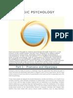 Yogic Pshychology