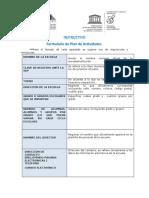 Instructivo- Formulario de Plan de Actividades