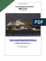 Tabla de Mareas Santander 2011