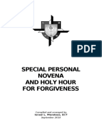 SPECIAL PERSONAL NOVENA FOR FORGIVENESS