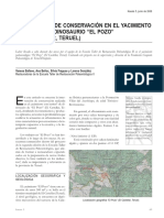 Ballano et al 2008 - Conservación del yacimiento de icnitas de dinosaurio de El Pozo