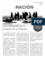Mini reportaje, inmigración en España