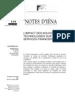 Impact des NTIC sur les services financiers