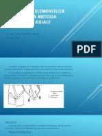Măsurarea elementelor filetului prin metoda secţionării axiale