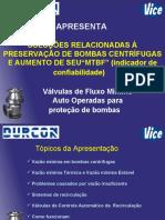 """SOLUÇÕES RELACIONADAS À PRESERVAÇÃO DE BOMBAS CENTRÍFUGAS E AUMENTO DE SEU""""MTBF"""""""